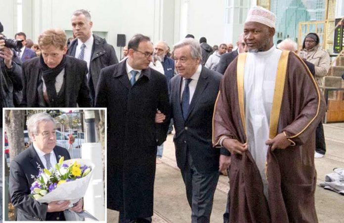 کرائسٹ چرچ: اقوام متحدہ کے سیکرٹری جنرل انتونیو گوتیریس مسجد النور کا دورہ کررہے ہیں