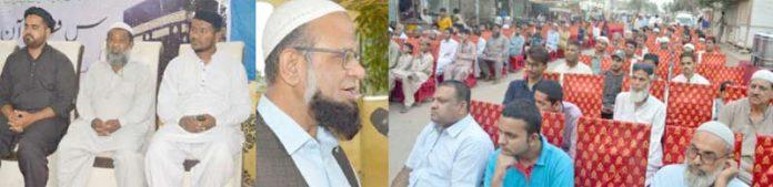 جماعت اسلامی پاکستان کے نائب امیرڈاکٹر معراج الہدٰی صدیقی کورنگی لیبر اسکوائرمیں دعوت افطار سے خطاب کررہے ہیں
