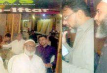 برادران الہٰ آباد ویلفیئر سوسائٹی کے زکوٰۃ کلیکشن افطار ڈنر سے محمد یوسف ، احمر رشید ودیگر خطاب کررہے ہیں