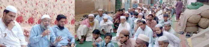 جماعت اسلامی کراچی کے نائب امیر ڈاکٹر واسع شاکر کورنگی بلال کالونی میں افطار پارٹی سے خطاب کررہے ہیں،ناظم علاقہ نوید اختر بھی موجود ہیں
