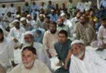 کراچی: نائب امیر جماعت اسلامی پاکستان راشد نسیمِ، عبدالجمیل خان ودیگر ضلع کورنگی میں شب بیداری سے خطاب کر رہے ہیں