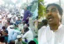 کورنگی سوکوارٹر میں پاکستان مسلم لیگ شیر بنگال کے قائد ڈاکٹر صالح ظہور اور دیگر افطار پارٹی سے خطاب کر رہے ہیں