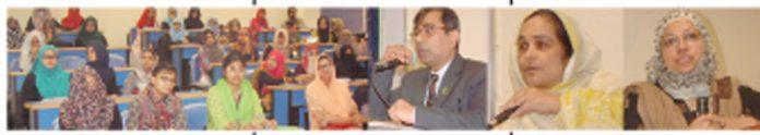 جامعہ کراچی کے شعبہ معاشیات کے زیر اہتمام سیمینار وسے اے سی سی آئی کے وائس چیئر مین محمد آصف اور دیگر مقررین خطاب کر رہے ہیں