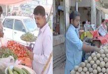 لاڑکانہ ،شہری ٹھیلے سے مہنگی ترین سبزیاں خریدنے پرمجبور ہیں