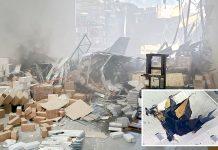 کیلیفورنیا: لڑاکا طیارہ گرنے سے گودام کی چھت اور اندر موجود سامان تباہ ہوگیا ہے