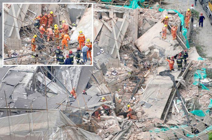 شنگھائی: منہدم ہونے والی عمارت کے ملبے میں دب جانے والے افراد کی تلاش جاری ہے