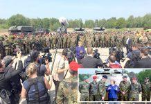برلن: چانسلر انجیلا مرکل نیٹو افواج کے ٹینک بریگیڈ کا دورہ کرنے کے بعد صحافیوں سے گفتگو کررہی ہیں