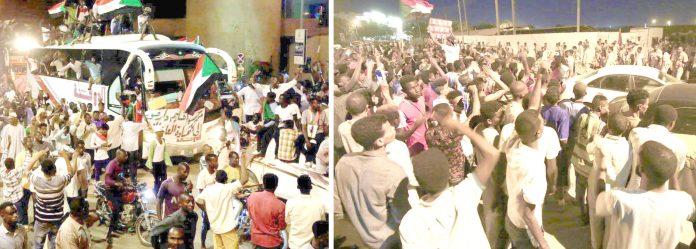 خرطوم: اقتدار پر قابض فوجی عبوری کونسل اور حزب اختلاف کی انقلابی قوتوں کے درمیان مذاکرات کامیاب ہونے پر شہری جشن منا رہے ہیں