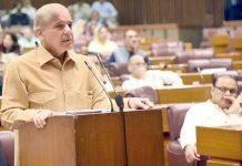 اسلام آباد: قائد حزب اختلاف شہباز شریف قومی اسمبلی اجلاس سے خطاب کررہے ہیں