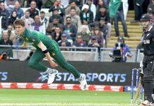 برمنگھم: ورلڈ کپ ،نیوزی لینڈ کے خلاف کھیلے گئے میچ میں پاکستان کے کامیاب بولر شاہین شاہ آفریدی کا بولنگ ایکشن