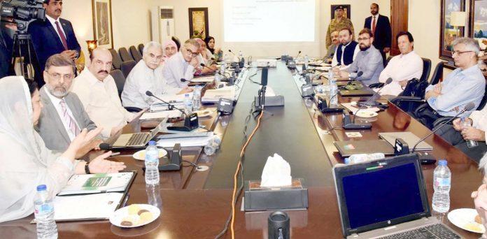اسلام آباد: وزیراعظم عمران خان پارٹی رہنماؤں و ترجمان کے اجلاس کی صدارت کررہے ہیں
