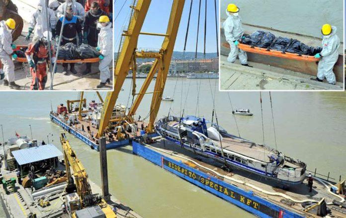بوداپست: دریائے ڈینیوب میں ڈوبنے والی کشتی نکال لی گئی ہے' برآمد ہونے والی لاشیں اسپتال منتقل کی جا رہی ہیں