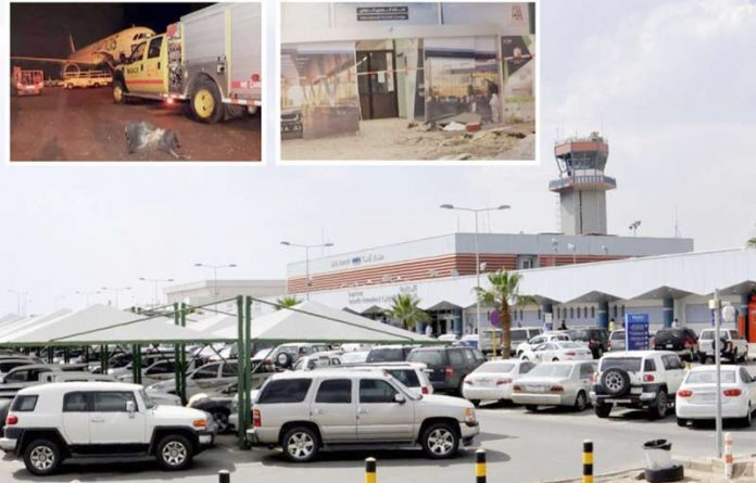 ابہا (سعودی عرب): بین الاقوامی ہوائی اڈے پر حوثیوں کے میزائل گرنے سے عمارت کے مختلف حصوں کو نقصان پہنچا ہے