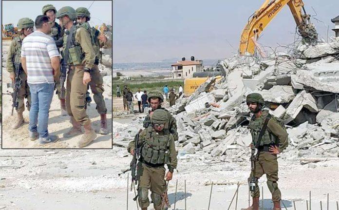 اریحا (فلسطین): صہیونی انتظامیہ مسلمانوں کے مکان مسمار کررہی ہے' اسرائیلی فوجی مزاحمت کرنے والوں کو روک رہے ہیں