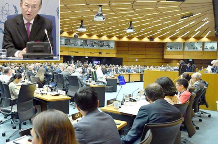 ویانا: عالمی جوہری توانائی ایجنسی کا اجلاس ہورہا ہے' سیکرٹری جنرل یوکیا امانو پریس کانفرنس کررہے ہیں