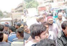 نارتھ کراچی سیکٹر 3میں پانی کی مسلسل بندش کے خلاف مکین احتجاج کررہے ہیں