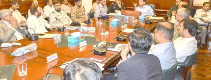 کمشنر کراچی ممکنہ سمندری طوفان سے بچائو کے لیے اجلاس کی صدارت کر رہے ہیں