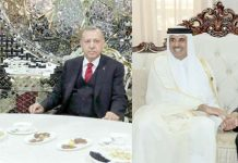 دوشنبے ؍ بشکیک: تُرک صدر رجب طیب اردوان امیر قطر تمیم بن حمد الثانی اور ایرانی ہم منصب حسن روحانی سے ملاقات کررہے ہیں