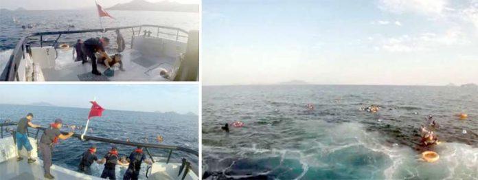 انقرہ: تُرک ساحلی محافظ اور بحریہ کے اہل کار ڈوبنے والی کشتی کے مسافروں کو بچانے کی کوشش کررہے ہیں