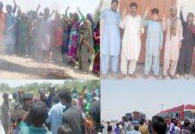 ٹنڈوالٰہیار ،شہری بجلی کی لوڈشیڈنگ، قلت آب اور مہنگائی کے خلاف احتجاج کررہے ہیں