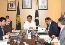 اسلام آباد: وفاقی وزیر خالد مقبول صدیقی سروسز فنڈز کے اجلاس سے خطاب کر رہے ہیں