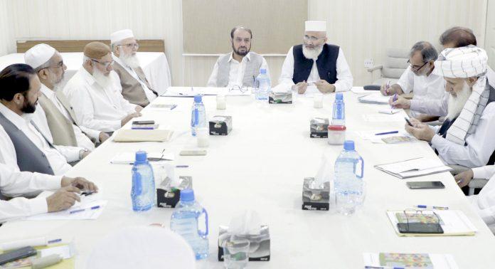 لاہور: امیر جماعت اسلامی سینیٹر سراج الحق منصورہ میں مرکزی ذمے داران کے اجلاس سے خطاب کررہے ہیں، امیر العظیم بھی موجود ہیں