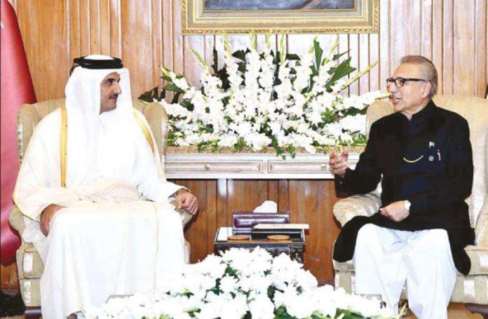 اسلام آباد: صدر مملکت ڈاکٹر عارف علوی سے امیر قطر شیخ تمیم ملاقات کر رہے ہیں