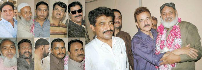 حیدرآباد ،بورڈ آفس کے سیکورٹی افسر ندیم قاضی عمرے کی سعادت کے بعد بونین اور بورڈ ملازمین کے ساتھ
