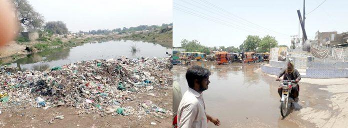 بھٹ شاہ : محکمہ پبلک ہیلتھ کی نااہلی کے باعث شہر کچرے اور جوہڑ کا منظر پیش کررہا ہے
