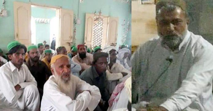 جیکب آباد : علامہ محمد حنیف کھوسہ چاندان تعلقہ ٹھل کی جامع مسجد میں خطاب کررہے ہیں