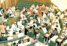 بلدی عظمیٰ:میئر کراچی وسیم اختر سٹی کونسل کے اجلاس کی صدارت کر رہے ہیں