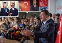 استنبول: منتخب میئر اکرام امام اولو بلدیاتی انتخابات میں کامیابی کے بعد صحافیوں سے بات اور اپنے پیش رو سے شہر کی مہر وصول کررہے ہیں
