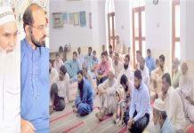 امیر جماعت اسلامی لاہور ذکراللہ مجاہد اسلام پورہ کے تربیتی اجتماع سے خطاب کررہے ہیں