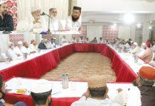 کراچی: امیر جماعت اسلامی سندھ محمد حسین محنتی صوبائی شوریٰ سے خطاب کر رہے ہیں