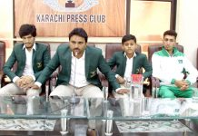 کراچی: طائی کانیٹو کے کوچ خرم رشید جولائی میں ہونیوالے طائی کانیٹو انٹرنیشنل چیمپئن شپ کے بارے میں خطاب کررہے ہیں