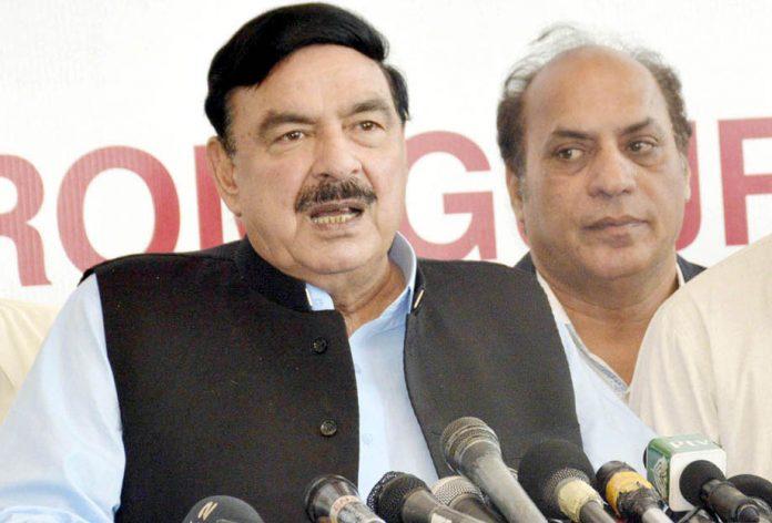 لاہور: وزیر ریلوے شیخ رشید ایکسپو سینٹر میں میڈیا سے گفتگو کررہے ہیں
