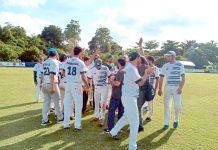 کولمبو: ایشیا کپ بیس بال چیمپئن شپ میں پاکستانی ٹیم سیمی فائنل میں بھارت سے مقابلے سے قبل پرگرائونڈ میں پریکٹس کے دوران