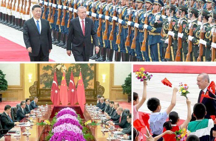 بیجنگ: چین میں ترک صدر رجب طیب اِردوان کا استقبال کیا جا رہا ہے، دونوں ممالک کے سربراہ مذاکرات میں شریک ہیں