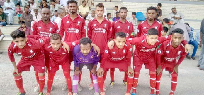 کراچی : ملک محمد خان شہید فٹبال ٹورنامنٹ میں شریک ٹیم کا میچ سے قبل لیاگیا گروپ فوٹو