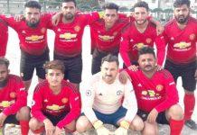 آل کراچی شہید عبدالخالق بلوچ یادگاری فٹبال ٹورنامنٹ میںشریک ٹیم کا میچ سے قبل لیاگیاگروپ فوٹو