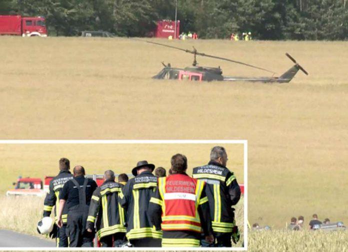 برلن: جرمنی میں فوجی ہیلی کاپٹر حادثے کے بعد زمین میں دھنسا ہوا ہے' امدادی ٹیمیں روانہ ہو رہی ہیں