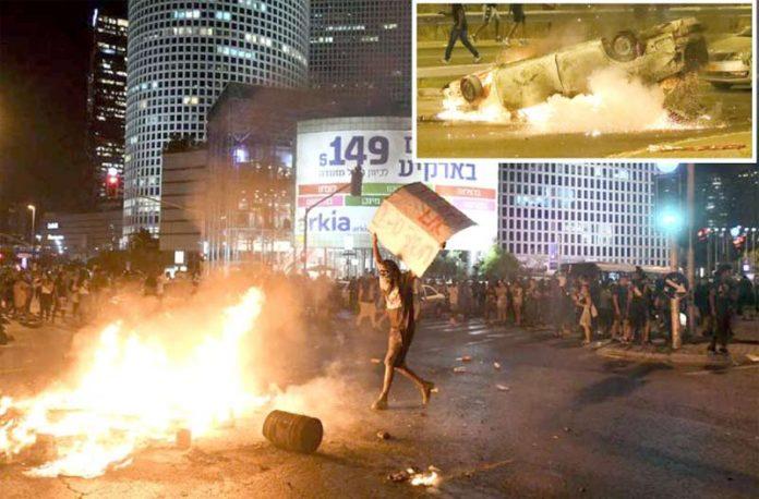 اسرائیل: ایتھوپیائی نژاد شہری کی ہلاکت کے خلاف احتجاج میں مظاہرین نے املاک کو آگ لگا دی ہے