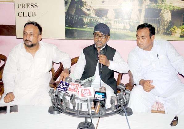 حیدرآباد،ایڈووکیٹ سید رضوان الحق حسن پریس کانفرنس کررہے ہیں