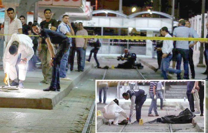 تیونس: دہشت گرد کی جانب سے خود کو دھماکے سے اڑانے کے بعد میٹرو اسٹیشن بند کردیا گیا ہے' ماہرین جائے وقوع سے شواہد اکٹھے کررہے ہیں