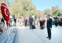 شمالی قبرص: ترکی کے نائب صدر فواد اقطائی ''امن آپریشن'' کو 45 برس مکمل ہونے پر اتاترک میموریل پر حاضری دے رہے ہیں