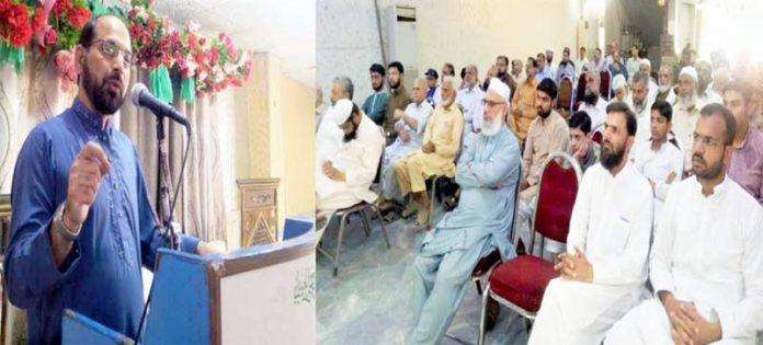 امیرجماعت اسلامی لاہورذکراللہ مجاہد زون 156 ہر بنس پورہ کے اجتماع سے خطاب کررہے ہیں