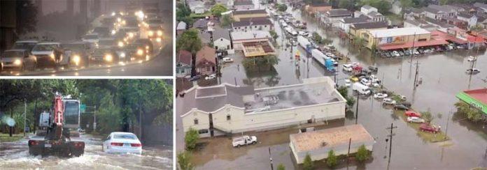لوزیانا (امریکا): شدید بارش کے باعث مکانات اور سڑکیں زیرآب آگئی ہیں' طوفان کے پیش نظر ریاست بھر میں ہنگامی حالت نافذ کردی گئی ہے