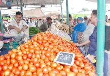 اسلام آباد : ہفتہ بازار میں لوگ سبزی کی خریداری کررہے ہیں