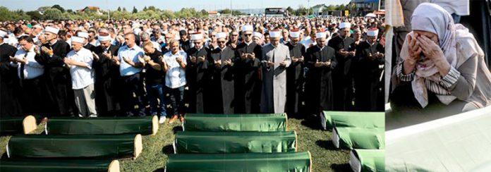بوسنیا: 24 سال قبل سربوں کے ہاتھوں قتل کیے گئے مسلمانوں کی نمازِ جنازہ ادا کی جارہی ہے' اہل خانہ غم سے نڈھال ہیں