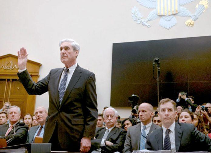 واشنگٹن: رابرٹ ملر کانگریس کی انٹیلی جنس کمیٹی کے سامنے بیان دینے سے قبل قسم اٹھا رہے ہیں